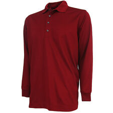 Bermuda Sands Men's Cambridge Long Sleeve Ottoman Polo Golf Shirt