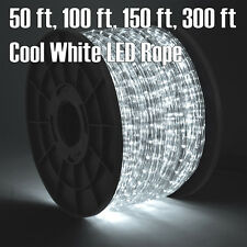 50' 100' 150' 30' Cool White LED Rope Light 2 Wire 110V Outdoor Christmas Party
