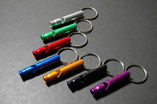 Aluminum Emergency Survival Whistle Key Chain for Camping Hiking Outdoor