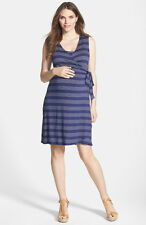 "New JAPANESE WEEKEND MATERNITY Nursing ""Desk to Dinner"" Nautical Stripe Dress"