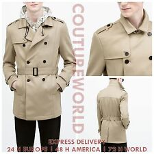 ZARA MAN Neoprene trenchcoat  REF. 1608/401 | S - XXL | NEW SEASON 2015