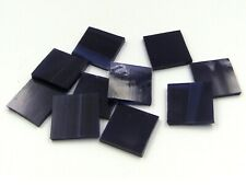Navy Blue Wispy Mosaic Glass Tile * Cut to Order Shapes - Spectrum - Med Pack