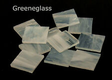 White Pearl Opal Mosaic Glass Tile Cut Shapes - Spectrum - Lg Pack