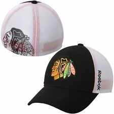 Chicago Blackhawks Mesh Face Off Slouch Flex Hat Reebok NHL Official Cap