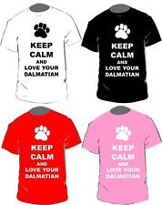 Keep Calm And Love Your Dalmatian T-shirt In 4 Colours For Adults & Kids
