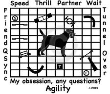 Border Terrier Dog Agility Course - My Obsession, Any Questions? T-shirt