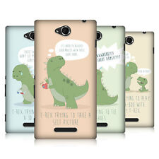 HEAD CASE DESIGNS HARD TIMES OF A T REX HARD BACK CASE FOR SONY XPERIA C C2305