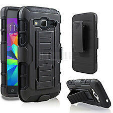 Rugged Hybrid Case Hard Cover Holster For Samsung Galaxy Prevail LTE Core Prime
