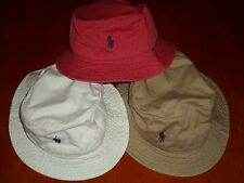 POLO RALPH LAUREN BUCKET BEACH FISHING HAT PLAIN COLOR AND MULTICOLOR REVERSIBLE