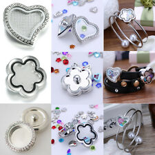 Design Floating Charms Locket For Snap-It Chunk Button Snap Bangle Bracelet Hot