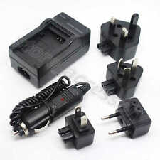 AC/DC Wall+Car Digital Camera Charger Adapter For Samsung BP-70A BP70A Battery