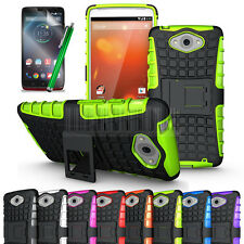 For Motorola Droid Turbo XT1254 Rugged Armor Hybrid Case Shockproof Cover Stand+