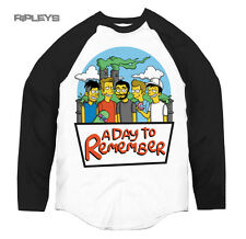 Official T Shirt A DAY TO REMEMBER Baseball SIMPSONS Logo All Sizes