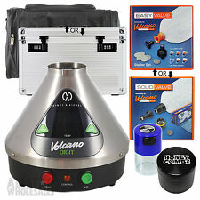 Volcano Digital Vaporizer Solid or Easy Valve Set Grinder TightVac VapeCase