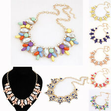FASHION WOMEN CRYSTAL JEWELRY CHUNKY PENDANT CHAIN STATEMENT BIB COLLAR NECKLACE
