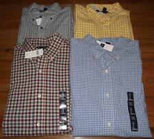NEW Mens GAP Washed Woven Long Sleeve Buttondown Shirt Classic Fit Gingham Check