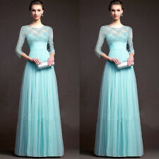 Sexy Long Lace Evening Party Ball Prom Gown Formal Bridesmaid Cocktail Dress