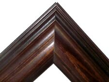 "2.5"" Americana Walnut Stain Solid Wood Picture Frame-Custom Made Standard Sizes"