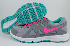 NIKE REVOLUTION 2 GS WOLF GRAY/HYPER PINK/JADE GREEN RUNNING WOMENS YOUTH SIZES