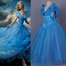 New Movie Cinderella Butterfly Gown Yarn Dress Kids Girls Tutu Princess Dresses
