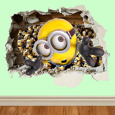 minions wall smash despicable me sticker kids childrens bedroom wall vinyl art