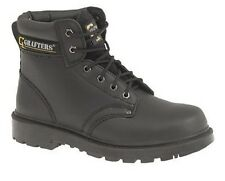 Mens Leather Grafters Apprentice 6 Eye Safety Steel Toe Cap Work Boots 6-16