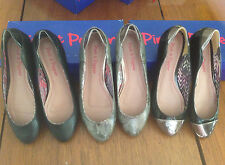 New Pink & Pepper womens Bullet flats loafers Black shoes Size $50
