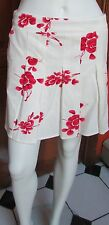 Lady B New York Rose Painted Pleated Golf / Tennis Skort Red NWT Sz  4 or 8