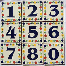 Mexican House Number Talavera Tile Home Address Tiles  FLOWERS