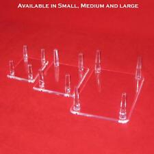 4 Peg Display Stands for Duck Decoys, Geodes, Minerals Made of Acrylic Plastic