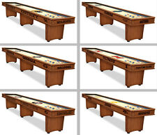 Choose Your NCAA E-K Team 9, 12, or 16' Engraved Wood Shuffleboard Table by HBS