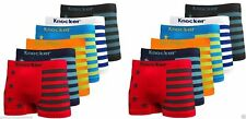Lot 3 6 12 Men Seamless Boxer Briefs Knocker Microfiber Underwear Free Size #30