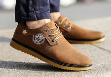 Wholesale Price!New Men Fashion Casual Suede Soft Lace Up Loafers Sports Shoes