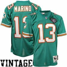 Mens Miami Dolphins Dan Marino Mitchell & Ness Aqua Authentic Throwback Jersey