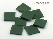 Dark Green Opal Fusible 96 coe Mosaic Glass Tile Cut to Order Shapes * Pack