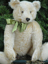 VERY RARE ANTIQUE MARGARETHE STEIFF TEDDY BEAR 20s w BUTTON GROWLER 15.8""