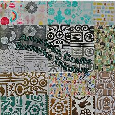 American Crafts Scrapbooking Thickers Stickers Accents Chipboard Chit Chat
