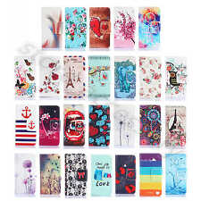 For Samsung Phone Embossed Rugged PU Leather Card Holder Stand Wallet Case Cover