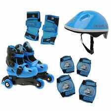 Cosmic Kids Skate And Prot SetJn40 Skates Blades Set Safety Helmet Children