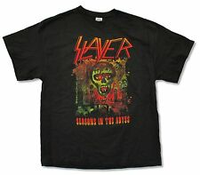"SLAYER ""SEASONS IN THE ABYSS (NON TOUR)"" BLACK T-SHIRT BAND MUSIC NEW ADULT"