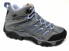 Merrell Moab Mid Waterproof Hiking Boots Womens Grey/Periwinkle Medium