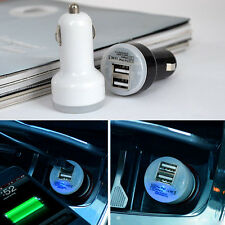 Car Charger Adaptor Mini Bullet Dual USB 2-Port for iPhone 4 S 5 Samsung HTC Hot