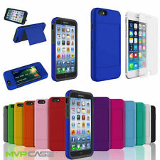 Apple iPhone 6 Hybrid Credit Card Holder Hard Soft Silicone Case Cover Skin