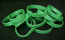 Green Awareness Bracelets 50 Piece Lot Silicone Jelly Wristband Cancer Cause New