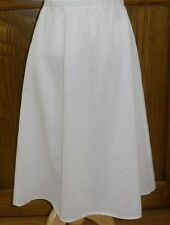 Ladies cotton half slip elastic waist long full modest custom & plus white black