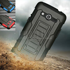 Rugged Armor Hybrid Case Hard Combo Clip Cover For Samsung Galaxy Core LTE G386F