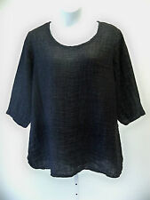 Flax Designs Soft Tunic NWT Linen Coal Lava    choice of size