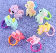 Lot Children Resin Rings Cartoon My Little Pony Ring Jewelrys Girls ring gift Y1