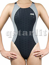 Girls Youth Women Racing Competition Fast Skin One Piece Splice Swim Suit New