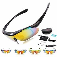 WOLFBIKE Polarized Cycling Glasses with 5 Lens Bicycle Sports Sunglasses UV400